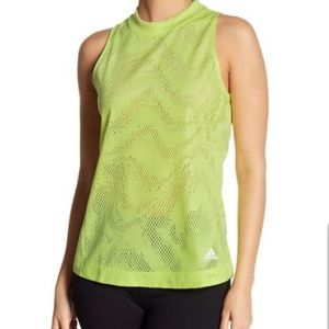 Sale Adidas neon green mesh tank top